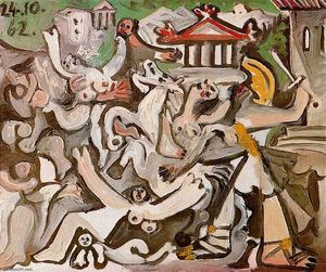 Pablo Picasso - The Rape of the Sabine Women 2