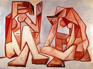 Pablo Picasso - Two women on the beach