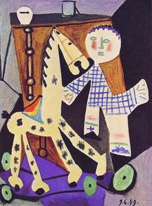 Pablo Picasso - Two years old Claude with a horse