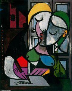 Pablo Picasso - Writing woman