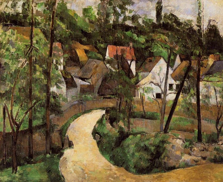 A Turn in the Road, 1882 by Paul Cezanne (1839-1906, France) | Art Reproduction | WahooArt.com