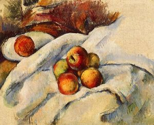 Paul Cezanne - Apples on a Sheet