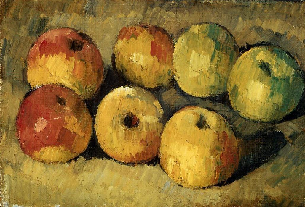 Apples by Paul Cezanne (1839-1906, France) | Painting Copy | WahooArt.com