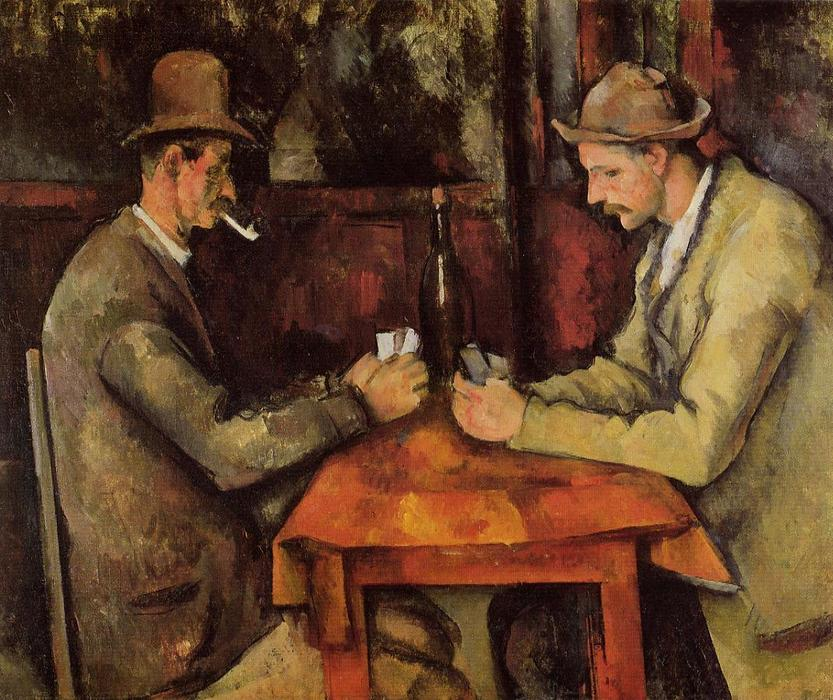 Cardplayers, 1893 by Paul Cezanne (1839-1906, France) | Famous Paintings Reproductions | WahooArt.com