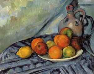 Paul Cezanne - Fruit and Jug on a Table