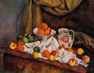 Paul Cezanne - Fruit Bowl, Pitcher and Fruit