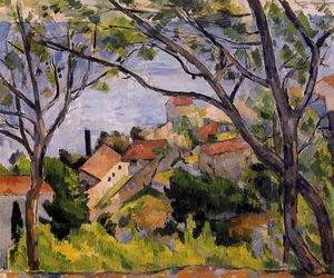 Paul Cezanne - L-Estaque. View through the Trees