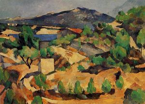 Paul Cezanne - Mountains Seen from L-Estaque