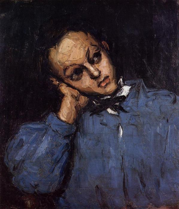 Portrait of a Young Man, 1866 by Paul Cezanne (1839-1906, France) | Museum Art Reproductions Paul Cezanne | WahooArt.com