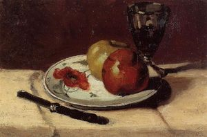 Paul Cezanne - Still Life Apples and a Glass