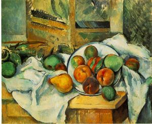 Paul Cezanne - Table, Napkin and Fruit