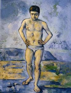 Paul Cezanne - The Large Bather - (paintings reproductions)