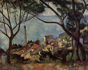 Paul Cezanne - The Sea at l'Estaque