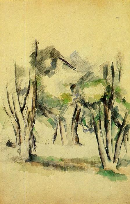 Order Art Reproductions | Trees, 1884 by Paul Cezanne (1839-1906, France) | WahooArt.com