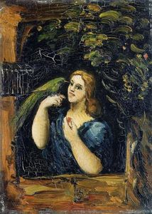 Paul Cezanne - Woman with Parrot