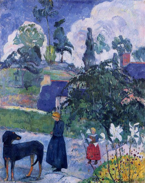 Among the lillies, 1893 by Paul Gauguin (1848-1903, France) | Art Reproduction | WahooArt.com