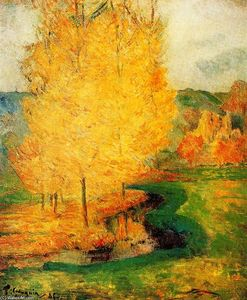 Paul Gauguin - By the Stream, Autumn
