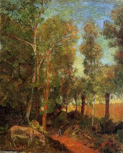 Paul Gauguin - Donkey by the Lane