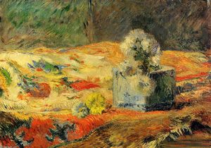 Paul Gauguin - Flowers and carpet