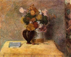 Paul Gauguin - Flowers and Japanese book
