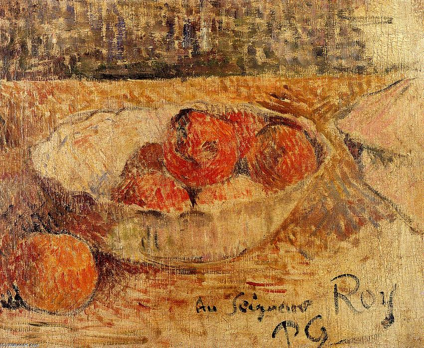 Fruit in a bowl, 1886 by Paul Gauguin (1848-1903, France) | Art Reproduction | WahooArt.com