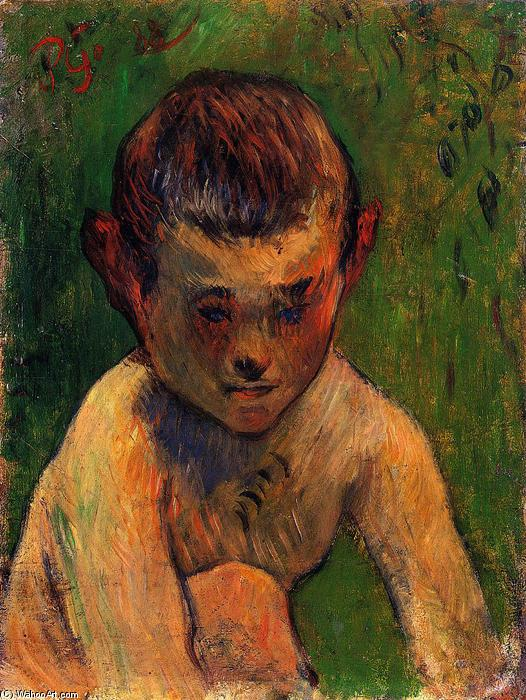 Order Reproductions | Little breton bather, 1888 by Paul Gauguin (1848-1903, France) | WahooArt.com