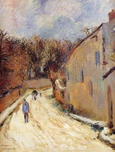 Paul Gauguin - Osny, rue de Pontoise, Winter