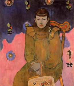 Paul Gauguin - Portrait of a Young Woman, Vaite (Jeanne) Goupil