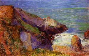 Paul Gauguin - Rocks on the breton coast