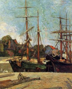 Paul Gauguin - Schooner and Three-Master