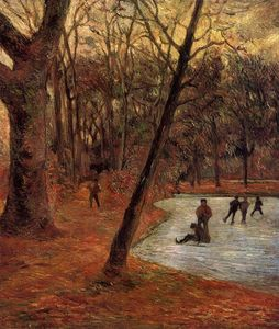 Paul Gauguin - Skaters in Fredericksberg park
