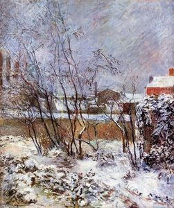 Paul Gauguin - Snow, Rue Carcel