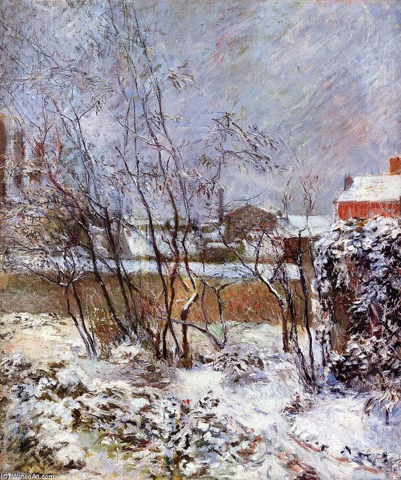 Snow, Rue Carcel, 1883 by Paul Gauguin (1848-1903, France) | Museum Quality Reproductions | WahooArt.com
