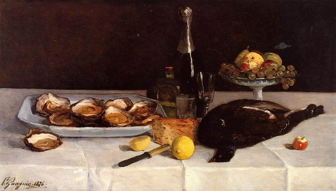 Still life with oysters, 1876 by Paul Gauguin (1848-1903, France) | Museum Quality Reproductions | WahooArt.com