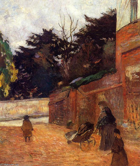 The Artist`s Children, Impasse Malherne by Paul Gauguin (1848-1903, France) | Art Reproductions Paul Gauguin | WahooArt.com