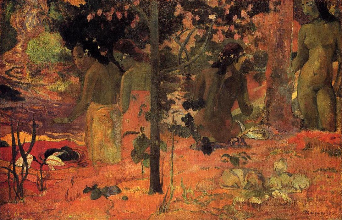 The Bathers, 1897 by Paul Gauguin (1848-1903, France) | Museum Quality Reproductions | WahooArt.com