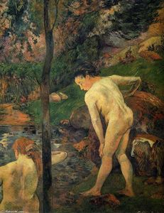 Paul Gauguin - Two girls bathing