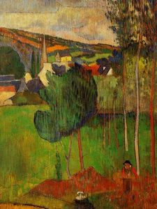 Paul Gauguin - View of Pont-Aven from Lezaven