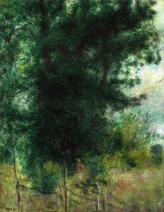 Pierre-Auguste Renoir - A Fence in the Forest