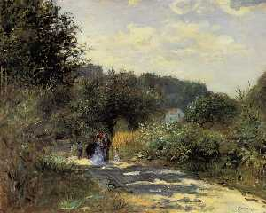 Pierre-Auguste Renoir - A Road in Louveciennes - (Buy fine Art Reproductions)