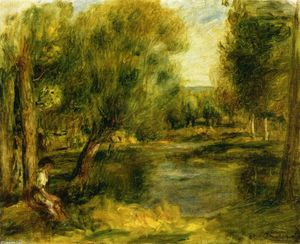 Pierre-Auguste Renoir - Banks of a River 2
