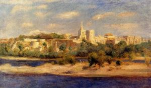Pierre-Auguste Renoir - Bathers on the Banks of the Thone in Avignon