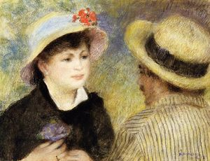 Pierre-Auguste Renoir - Boating Couple (aka Aline Charigot and Renoir)