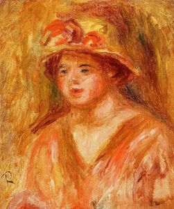 Pierre-Auguste Renoir - Bust of a Young Girl in a Straw Hat