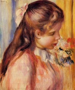 Pierre-Auguste Renoir - Bust of a Young Girl