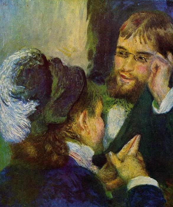 Conversation, Oil On Canvas by Pierre-Auguste Renoir (1841-1919, France)