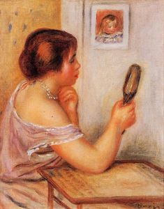 Pierre-Auguste Renoir - Gabrielle Holding a Mirror with a Portrait of Coco