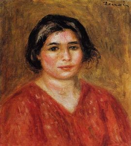 Pierre-Auguste Renoir - Gabrielle in a Red Blouse 1