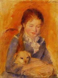 Pierre-Auguste Renoir - Girl with a Dog