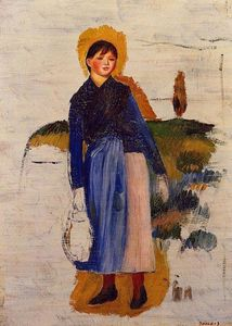 Pierre-Auguste Renoir - Girl with Red Stockings